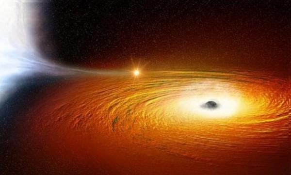 Csillag egy fekete lyuk körül - beszippantja