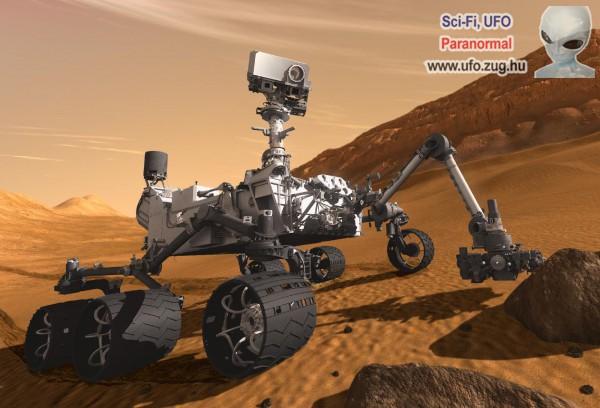 A Curiosity Mars-járó robot