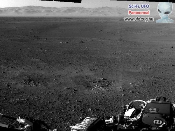 Curiosity első földre sugárzott képe