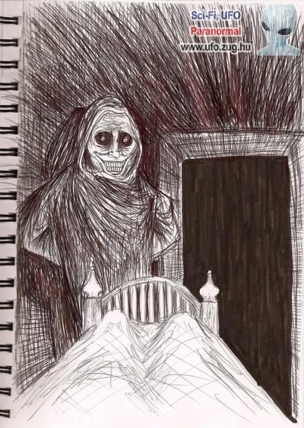 Félelmetes rajz egy látogatóról