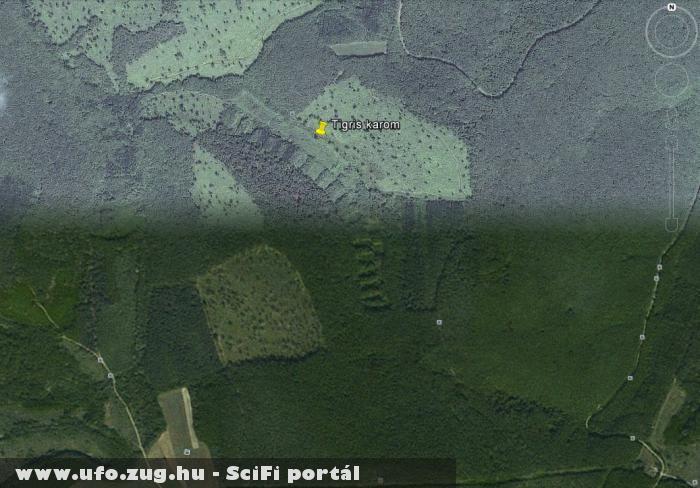 Tigris karom ,Nógrádszakál közelében.Google Föld.