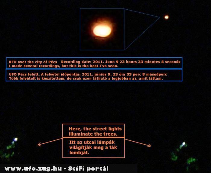 Éjszakai UFO Pécs felett
