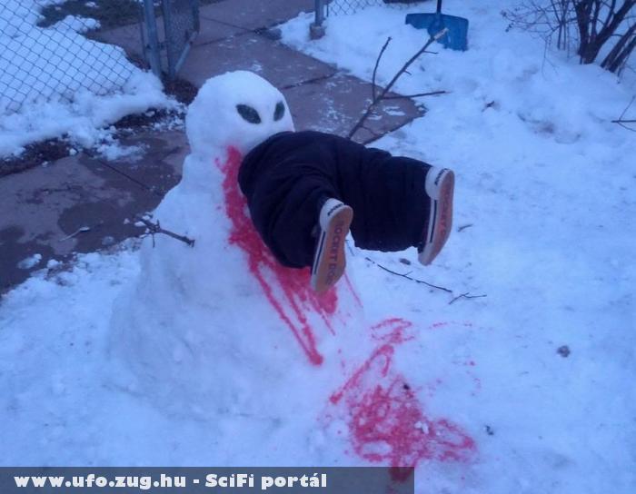Ufó és emberevõ - hóembernek álcázva