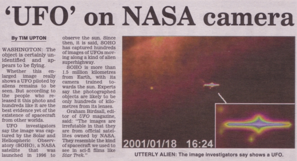A Nasa bevallja hogy már észleltek ufót.