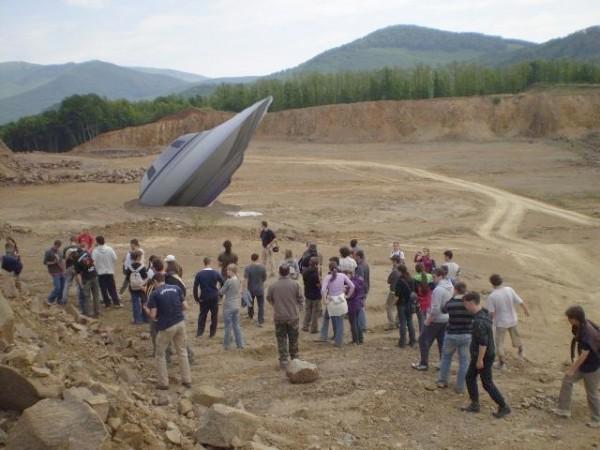 Sulisok által  talált ufó-rakéta