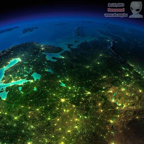 Földi éjszaka az űrből