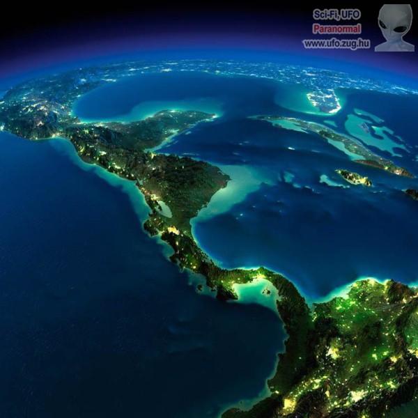 Földünk egy része az űrből nézve