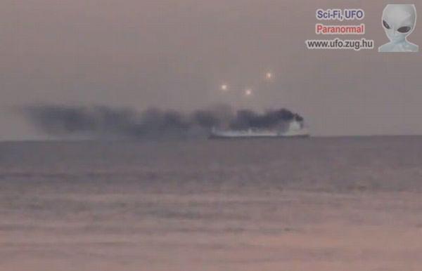 Különös fények a hajó felett - UFO?!