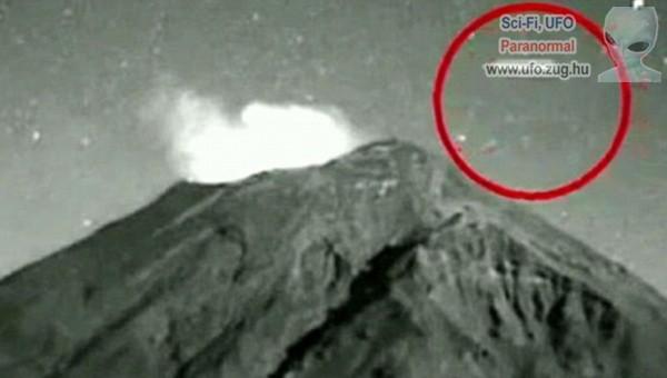 Különös tárgy lebeg a vulkán felett