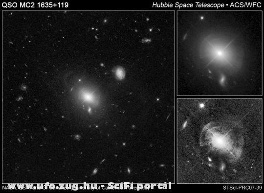 cscsillaggyûrûk egy kvazár körül
