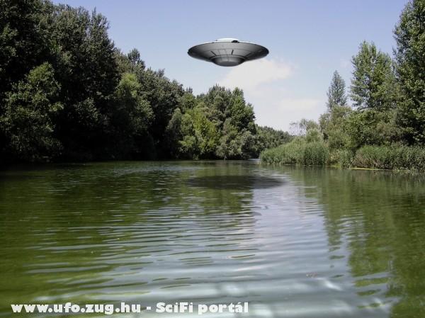 Csészealj a Duna egyik holtága felett.