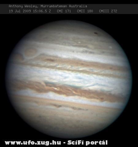 Valami becsapódhatott a Jupiterbe?!