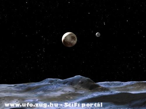 A Plútóról ezt látják az ufo-k, ha a Föld felé néznek!