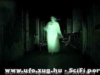 hálóinges szellem 00:58-kor egy elhagyott kórházban