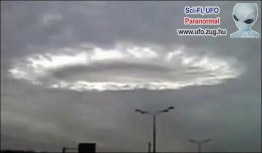 Ufó által okozott felhő hullám