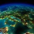 Európa éjszaka az űrből